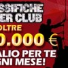 Nuove classifiche Pokerclub per i buy in superiori