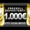I Freeroll Depositanti di Titanbet Poker: ogni mese 1000€ GTD!