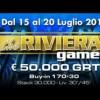 The Riviera Game: dal 15 al 20 luglio 50.000€ garantiti al casinò di Sanremo