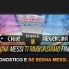 Finale di Coppa America tra Cile e Argentina: se segna Messi NetBet.it ti rimborsa il 100% fino a 30€!