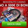 10€ IN REGALO per le slot e fino a 500€ di bonus benvenuto: iscriviti al Casinò di Gioco Digitale!