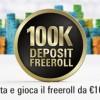 100k Deposit Freeroll: deposita su PokerStars.it e partecipa al torneo con centomila euro in palio!