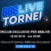 """Vola a Bucarest e gioca l'888Live con 1€: pacchetto da 1.500€ in palio nel torneo """"ItaliaPokerClub Exclusive""""!"""
