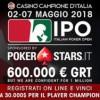 Dal 2 al 7 maggio torna l'IPO by PokerStars!