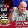WSOP – Matthew Davis trionfa nel Seniors dei record! Mizrachi comanda ancora nel PPC