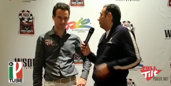 """WSOP 2010, Isaia:""""Giocavo per vincere"""""""