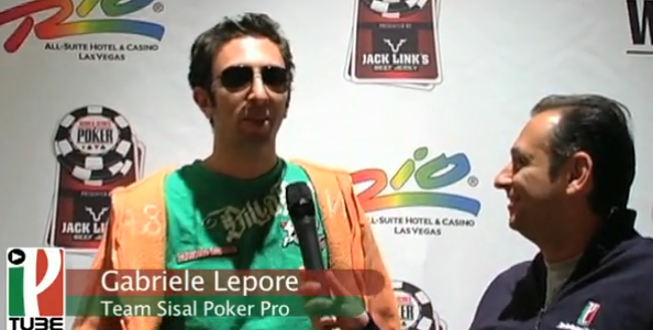 WSOP 2010 Video – Gabriele Lepore bene al Main Event