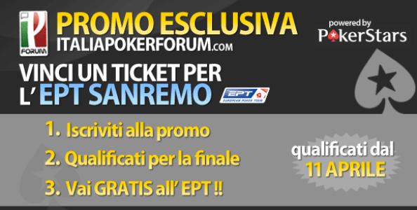 Vai Gratis all'EPT di Sanremo con ItaliaPokerForum!
