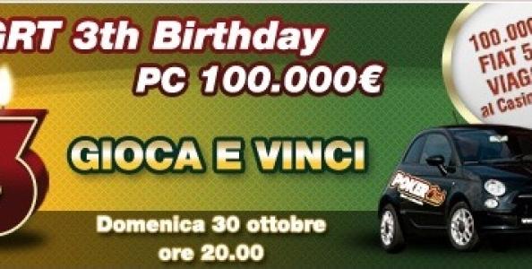 "Terzo Compleanno PokerClub: vince ""kk1"" !"