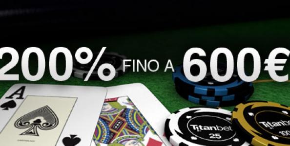 Titanbet Poker: Bonus da 600 euro!
