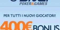 Vuoi un bonus di 400€ su Snai Poker?