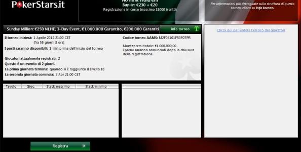 Sunday Million: 1.000.000 € di montepremi garantito su PokerStars!