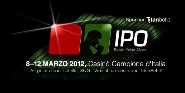 Vinci l'Italian Poker Open su TitanBet!