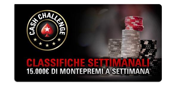 Weekly Cash Challenge su PokerStars: in palio 15.000€ alla settimana!