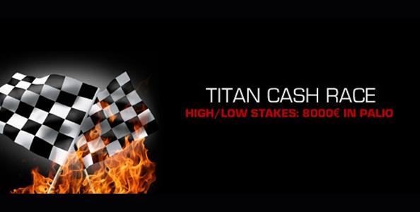 Titan Cash Race: in palio 8.000€ nei tavoli cash di Titanbet