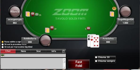 Zoom Poker a soldi finti su PokerStars.it!
