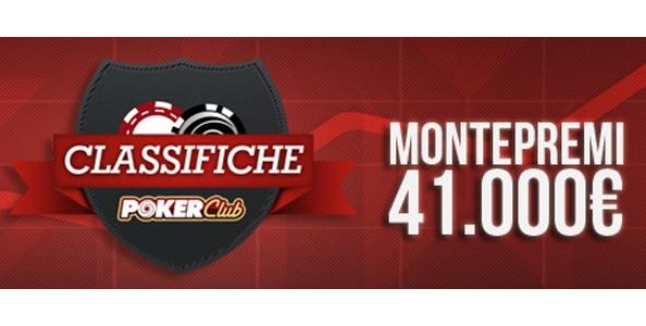 Tornano le classifiche su Poker Club: 41.000 euro in palio a settembre!