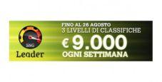 SNG Leader: in palio 9.000 euro per le classifiche settimanali di Sisal!