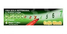 """Partecipa alla """"Ca$h Week"""" di Sisal Poker: in palio 3.500 euro per le classifiche settimanali!"""