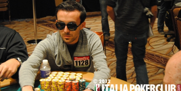 WSOP 2012 – Gianluca Mattia secondo chipleader all'evento 56!