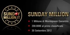 Il 30 settembre torna il Sunday Million!