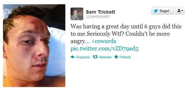 Sam Trickett preso a pugni!
