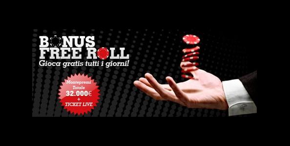 Partecipa ai freeroll giornalieri di Poker Club: 32.000 euro in palio!