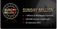 Ecco gli ultimi satelliti per il Sunday Million!