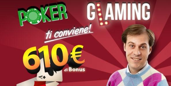 Nuovo bonus di benvenuto su Glaming Poker fino a 610 euro!