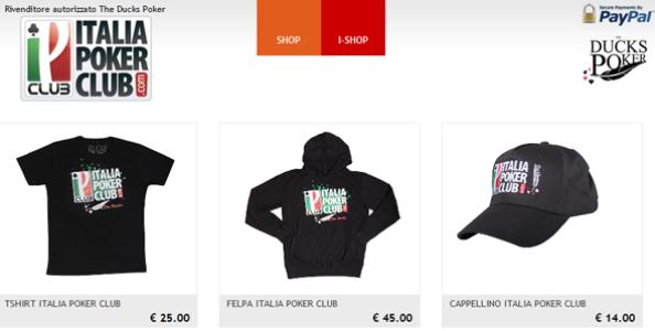 ItaliaPokerClub e TheDucks Poker: ecco il nostro Shop online!