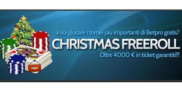 Gioca ai freeroll di BetPro: in palio 4.500 euro in ticket tornei!