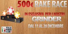 Rake Race da 500€ su Glaming Poker!