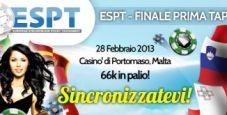 Segui la finale ESPT in diretta video streaming!