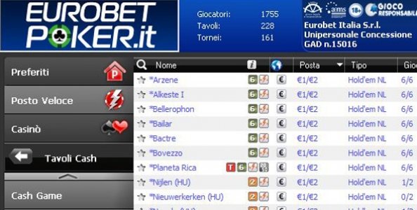 """Marco Trucco: """"Ecco i tavoli cash privati di Eurobet"""""""