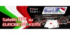 Vuoi partecipare al Grand Final IPT di San Remo? Qualificati su Eurobet Poker con solo 1 €!