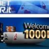 Eurobet Poker: bonus di benvenuto fino a 1.000 euro!