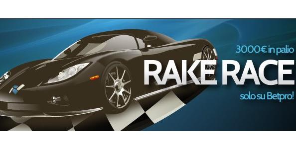 Rake Race Betpro: scala la classifica e guadagna il primo posto!