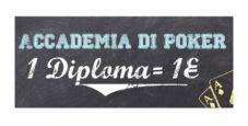 Su Titanbet arriva l'Accademia del Poker: ogni diploma vinto vale 1 euro!