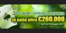 iPoker Spring Series: più di 260.000 € garantiti su Eurobet!