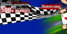 Rake Race da 500 € su Eurobet Poker: vuoi partecipare?