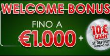 Sisal Poker: ottieni fino a 1000€ in bonus poker sul primo deposito!