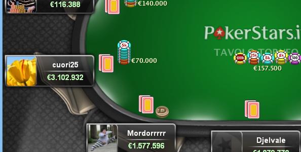 Pokerstars 'Free Tilt': in 10.007 giocano l'evento inaugurale! 2.500T€ a 'cuori25'.