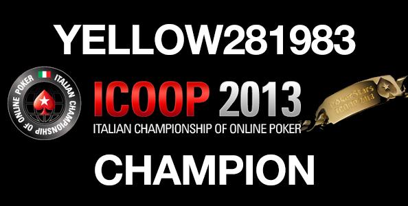 """ICOOP Main Event: Vince """"Yellow281983"""" dopo un deal a otto alle nove del mattino!"""