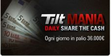 Tilt Mania, parte 'Daily share the cash': cinque classifiche e migliaia di premi ogni giorno!