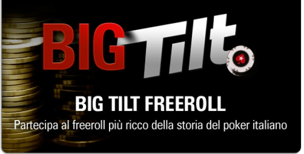 Big Tilt: 100.000€ per il freeroll più ricco della storia