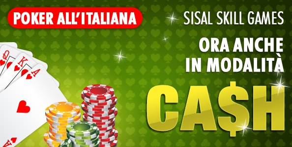 Sisal amplia il palinsesto: anche il poker all'italiana disponibile nel Cash Game