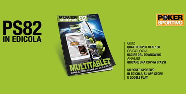 Poker Sportivo n. 82 in edicola e sull'App Store