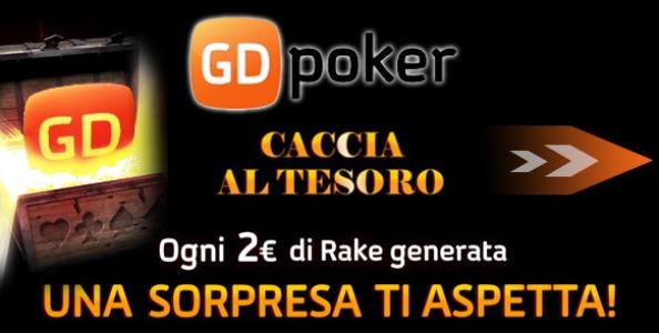 Parte la Caccia al Tesoro su GdPoker: gioca e vinci bonus poker, ticket freeroll e status VIP!