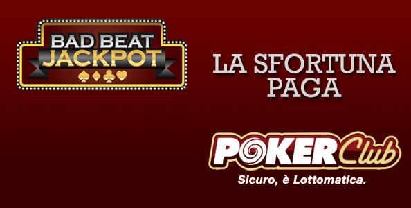 Bad Beat Jackpot: pochi minuti fa distribuiti 30.000€ su Poker Club grazie a 'camilla6060'!