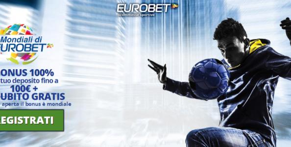 Se ti iscrivi a Eurobet ricevi 5€ bonus senza deposito per scommettere!